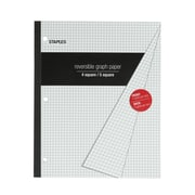 "Staples Composition Notebook, 8-1/2"" x 11"", 80 Sheets, Graph Ruled, Assorted Colors (18922B-CC)"
