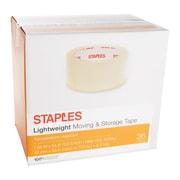 """Staples® Lightweight Moving & Storage Packing Tape, 1.88"""" x 54.6 Yds, Clear, 36/Rolls (ST-A22-36)"""