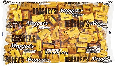 HERSHEY'S NUGGETS Milk Chocolate with Toffee and Almonds, 60 Oz. (HEC01685)