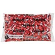 KISSES Milk Chocolates, Red, 66 Oz. (HEC60286)