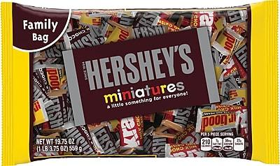 HERSHEY'S Miniatures Assortment, 19.75 Oz., 12/CT (HEC21421)