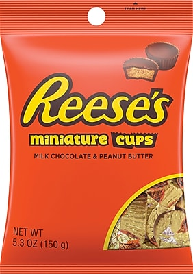REESE'S Peanut Butter Cups Miniatures, 5.3 Oz., 12/CT (HEC44600)