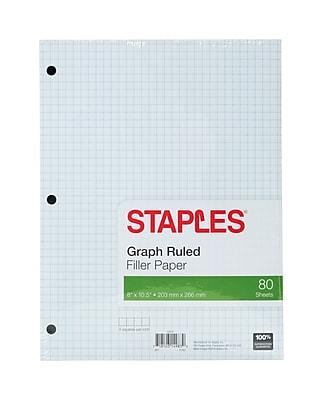 Staples® Graph Ruled Filler Paper, 8