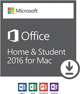 Microsoft Office Home and Student 2016 for Mac, 1 user [Download]