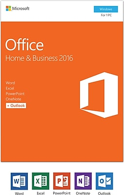 Microsoft Office Home and Business 2016 for Windows, 1 user [Product Key Card]