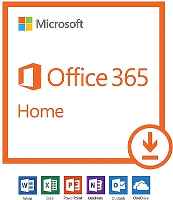 Microsoft Office 365 Home - 1-year subscription, 1-5 users, PC/Mac [Download]