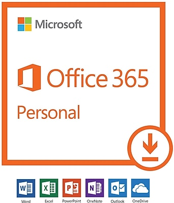 Microsoft Office 365 Personal - 1-year subscription, 1 user, PC/Mac [Download]