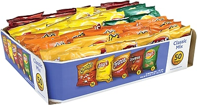 Frito Lay Potato Chips Bags Variety Pack, 1 Oz, 50 Count (220-00403) 1508124
