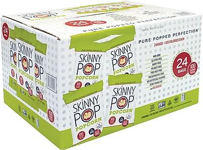 Skinny Pop 100 Calorie Popcorn Snack, 0.65 Oz, 24 Count (220-00408)