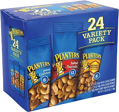 Planters® Nut Variety Pack, 1.7 oz. Bags, 24/Box (220-00423)