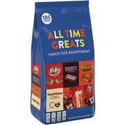 All Time Greats Snack Size Hershey Assortment, 38.9 Oz, 105 Pieces (246-00013)