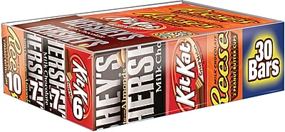 Hershey Chocolate Bars Full Size Variety Pack, 45 Oz. Bag (HEC20650)