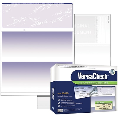 Laser Check Business Checks Bank Checks Check at Bottom 1000 Blue- Linen Laser Check Stock, Blank Laser Checks or Personal Checks
