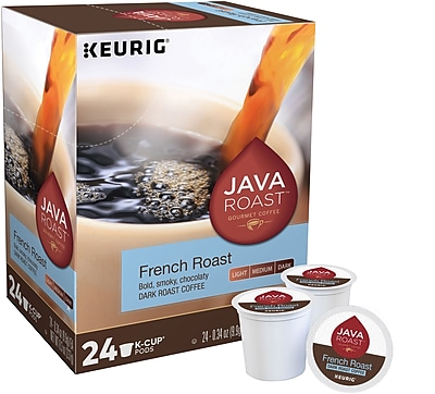 Java Roast® French Roast Coffee, Keurig® K-Cup® Pods, Dark Roast, 96/Carton (52966CT)