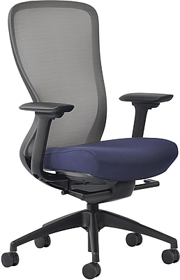 Staples Ayalon Gargoyle Mesh Task Chair with Fabric Seat, Blue(53204)