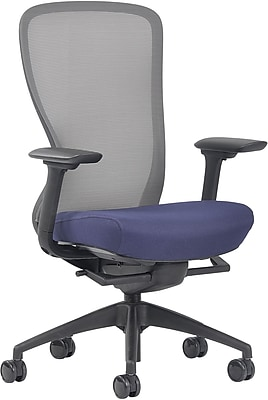 Ayalon Blue Fabric Seat Jet Mesh Task Chair