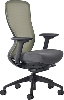 Staples Ayalon Fabric Seat Lime Punch Mesh Task Chair, Gray (V-AYALON-LIM-GY)