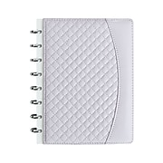"Staples® Customizable Quilted PU Leather Arc Notebook System, 5-1/2"" x 8-1/2"", Assorted Colors (51769)"