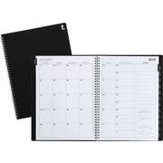 "2019 Staples® Large Monthly Planner, 14 Months, 8"" x 11"", Black (21496-19)"