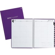 "2019 Staples® Large Monthly Planner, 14 Months, 8"" x 11"", Purple (52182-19)"