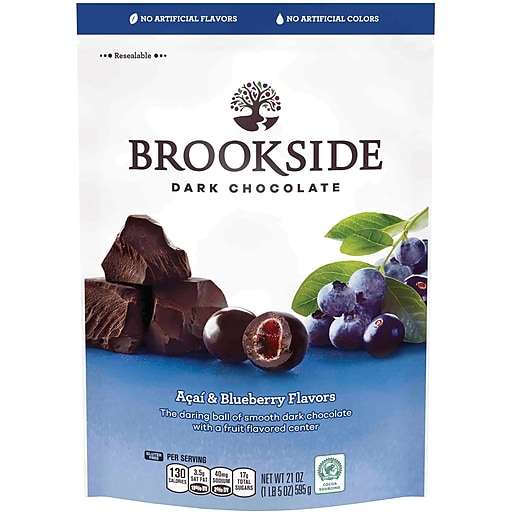 BROOKSIDE Dark Chocolate Acai and Blueberry Flavors, 21 Ounces, 2/BD (HEC91145)