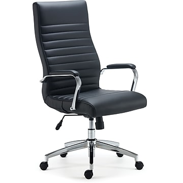 Staples Bentura Bonded Leather Managers Chair, Black (53234)