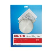 "Staples Sheet Magnifier, 2x Magnification, 8.5""x11"" (52372)"
