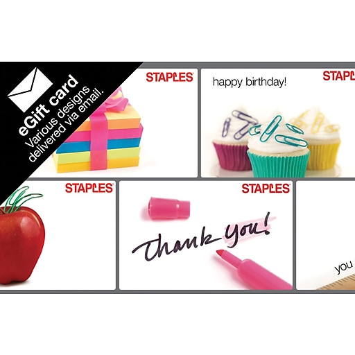 Staples Happy Birthday EGift Card 3p S7 Is