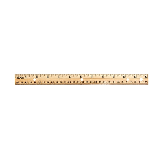 "Staples 12"" Wooden Ruler, Imperial/Metric (51891)"