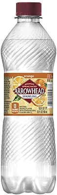 Arrowhead® Brand Sparkling Mountain Spring Water, Orange, 16.9 Ounce Plastic Bottle, 24/Case (12349474/120944)