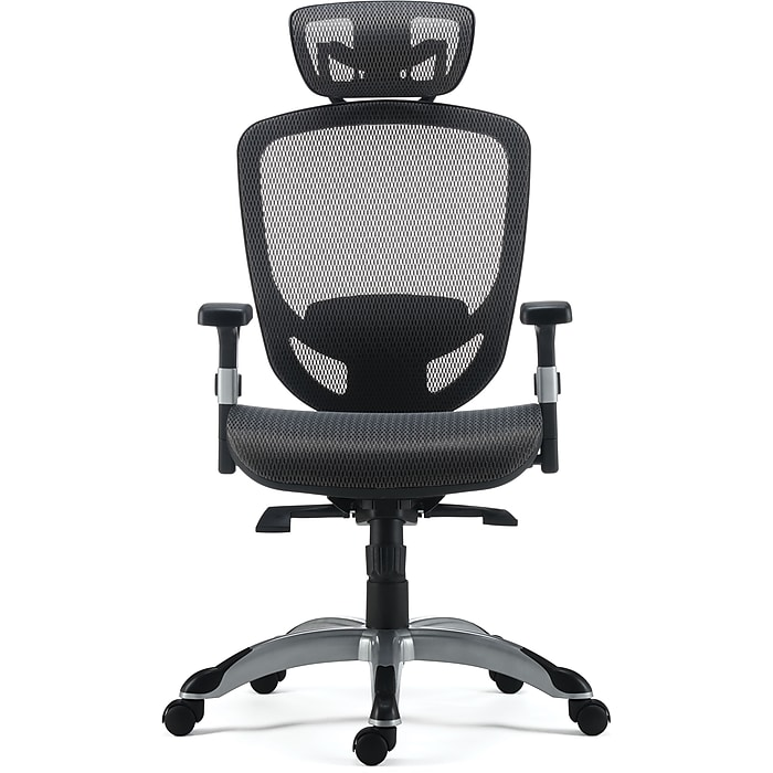Staples Hyken Mesh Task Chair, Charcoal Gray (53293)