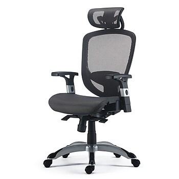 FlexFit Charcoal Gray Hyken Mesh Task Chair
