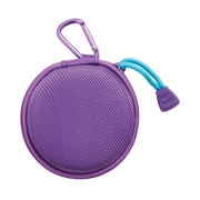 Staples Earbud Case with Carabiner, Purple