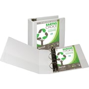 Samsill Earth's Choice™ Biobased 3 Ring View Binder, 4 Inch D-Ring, Customizable Clear View Cover, White (SAM16997)