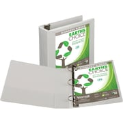 Samsill Earth's Choice™ Biobased 3 Ring View Binder, 3 Inch Round Ring, Customizable Clear View Cover, White (18987)