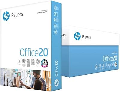 "HP Office20 8.5"""" x 11"""" Multipurpose Paper, 20 lbs., 92 Brightness, 5000/Carton (HPC8511)"