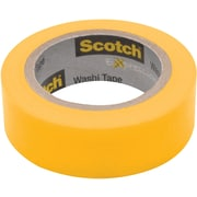 "Scotch® Expressions Washi Tape, Yellow Solid, 0.59"" x 393"" (C314-YEL)"