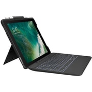 Logitech Slim Combo with Detachable Backlit Keyboard and Smart Connector for iPad Pro 10.5 inch (Black)