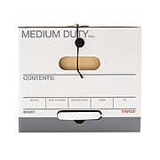 Staples Medium Duty Durable Corrugated Boxes, Letter/Legal Size, White, 4/Pack (2488801)