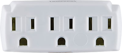 Staples 3-Outlet In-Wall Plug-In Power Adapter, White (22141)