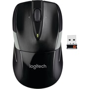 Logitech M525 Optical Wireless USB Mouse, Ambidextrous, Black/Gray (910-002696)