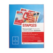 "Staples® Inkjet Postcards, 5 1/2"" x 4 1/4"", Matte, 400/Pack"