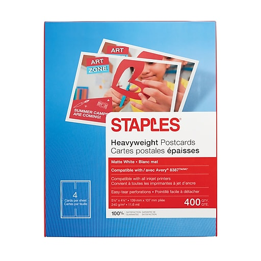 667853f7cb0 Staples® Inkjet Postcards