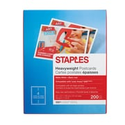 "Staples® Inkjet Postcards, 5 1/2"" x 4 1/4"", Matte, 200/Pack"