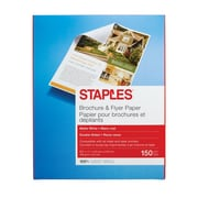 "Staples® Brochure & Flyer Paper, 8.5"" x 11"", Matte White, 150/Pack (12488-US)"