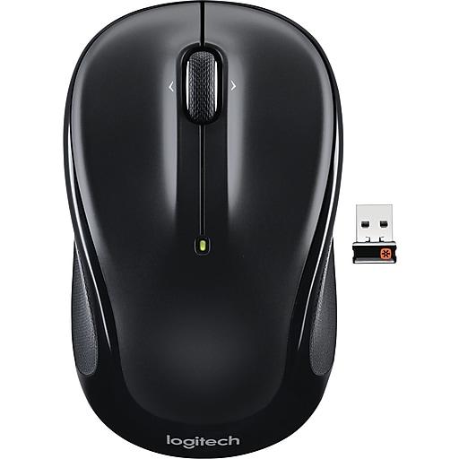 Logitech M325 Optical Wireless Ambidextrous Mouse, Black