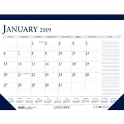 House of Doolittle 2019 Monthly Two Color With Notes Desk Pad Calendar 22 x 17 Inches (HOD164)