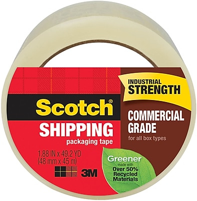 Scotch® Greener Commercial Grade Shipping Packing Tape, 1.88