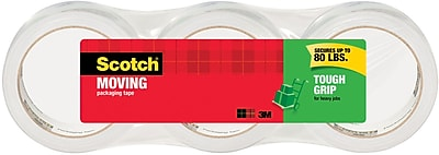 Scotch® Tough Grip Moving Packaging Tape, 1.88
