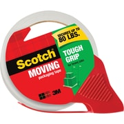 "Scotch® Tough Grip Moving Packaging Tape with Dispenser, 1.88"" x 38.2 yds., 1 Roll, (3500S-RD)"